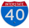 Interstate 40 Road Sign